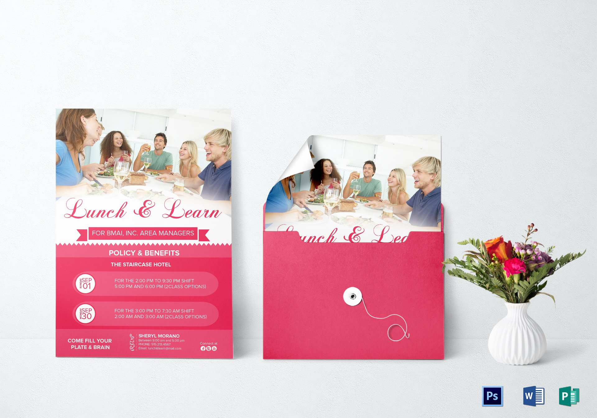 Lunch and Learn Invite Template Inspirational Lunch and Learn Invitation Design Template In Psd Word
