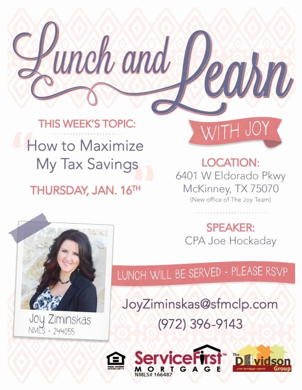 Lunch and Learn Invite Template Lovely Marketing Flyer for Mortgage Pany Lunch and Learn On