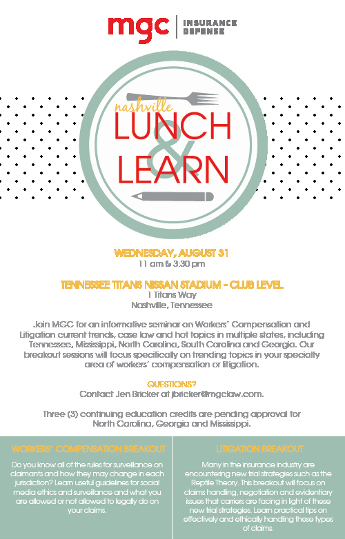 Lunch and Learn Invite Template New 2016 Nashville Lunch & Learn Mgc