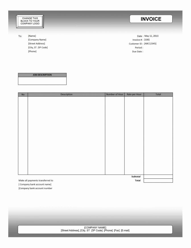 Mac Pages Invoice Template Awesome Invoice Template Free Pdf Blank Templates for Mac Numbers
