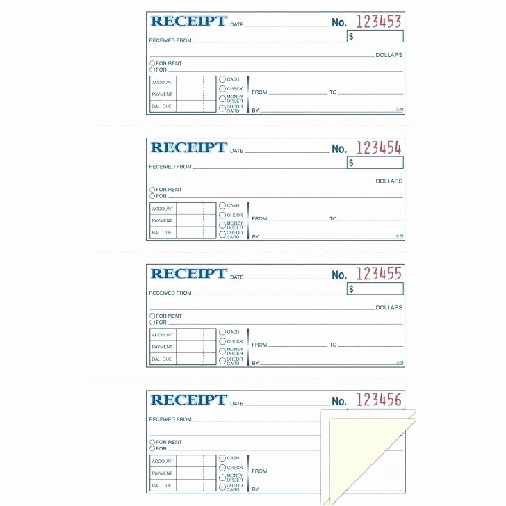 Mac Pages Invoice Template Awesome Money Rent Receipt Book 3 Part Bk Products Printable Blank