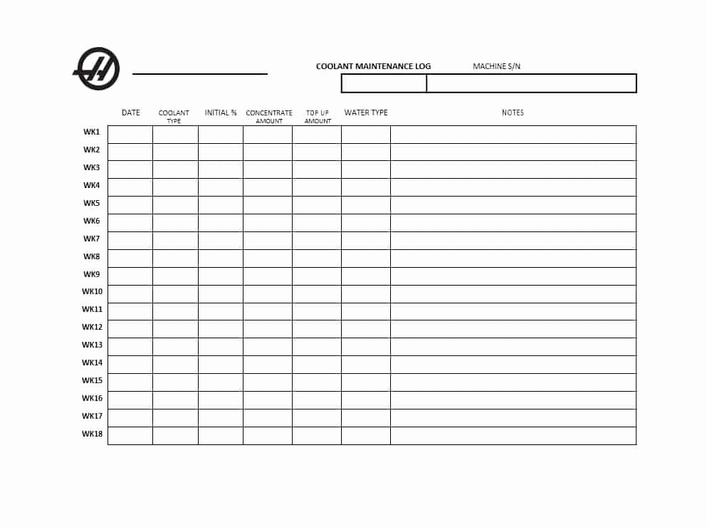 Machinery Maintenance Log Template Elegant 40 Equipment Maintenance Log Templates Template Archive