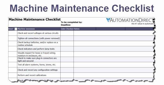 Machinery Maintenance Log Template Luxury Machine Maintenance Schedule Template