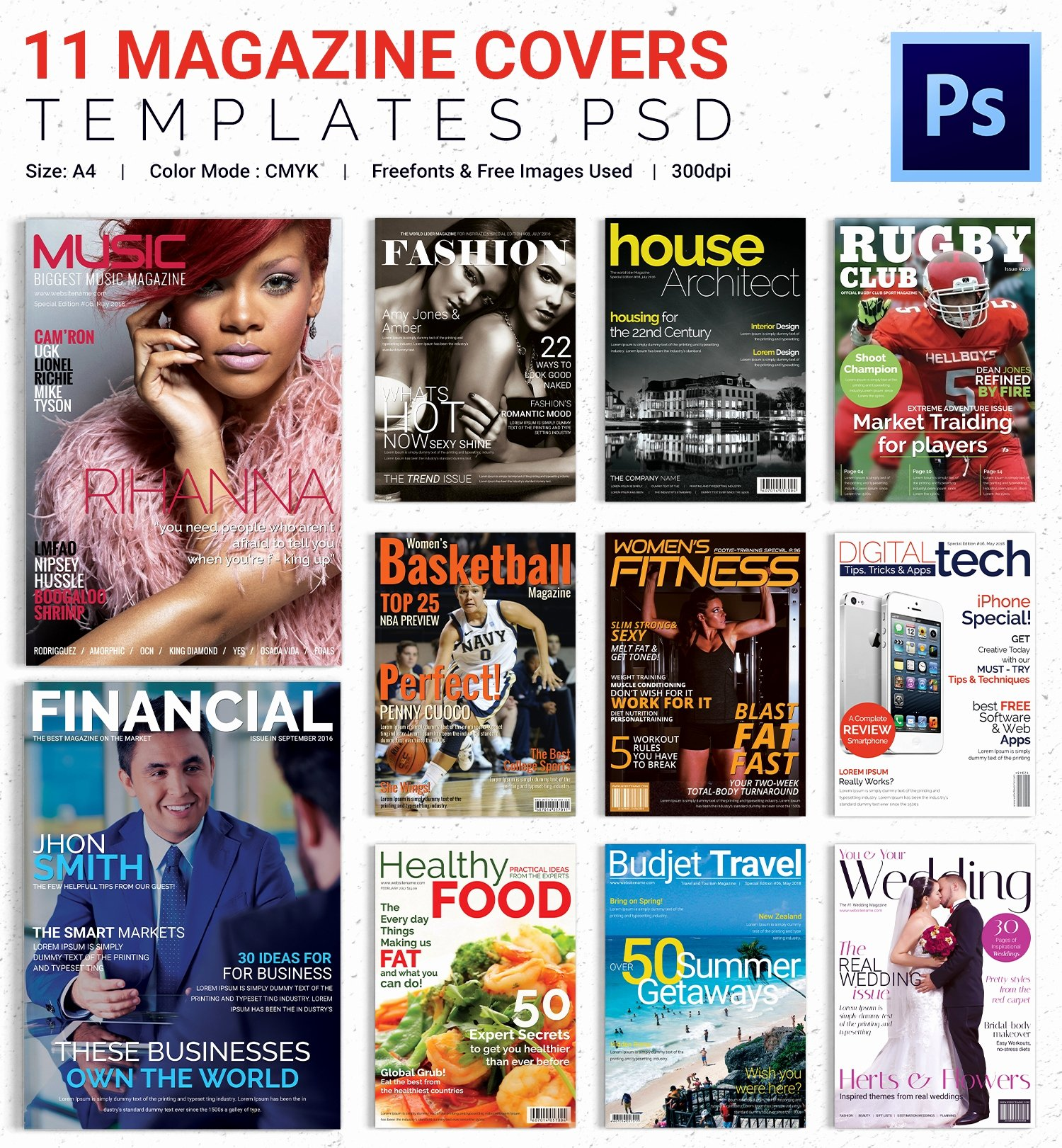 Magazine Cover Template Psd Awesome Magazine Cover Psd Template – 31 Free Psd Ai Vector Eps