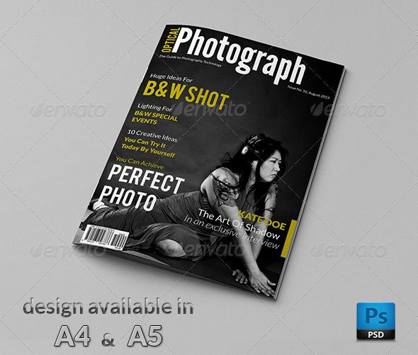 Magazine Cover Template Psd Best Of 50 Indesign & Psd Magazine Cover & Layout Templates