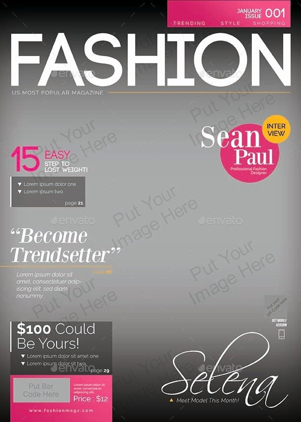 Magazine Cover Template Psd Elegant Magazine Cover Template