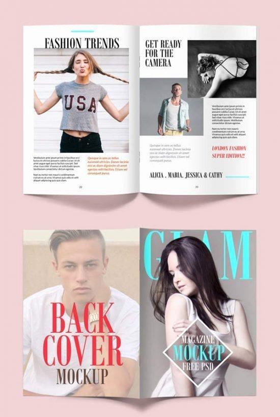 Magazine Cover Template Psd Fresh 30 Nice & Free Magazine Mockups Templates