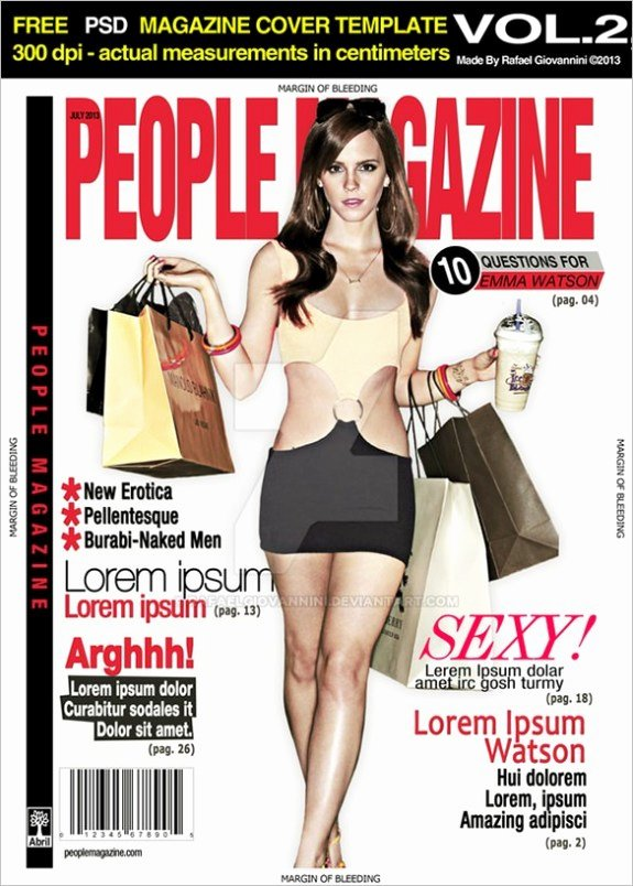 Magazine Cover Template Psd Inspirational 13 Magazine Cover Templates Psd Designs Papers