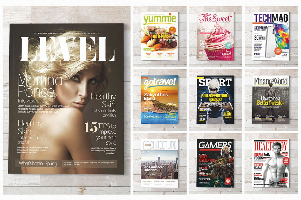 Magazine Cover Template Psd Inspirational 20 Premium Magazine Templates for Professionals