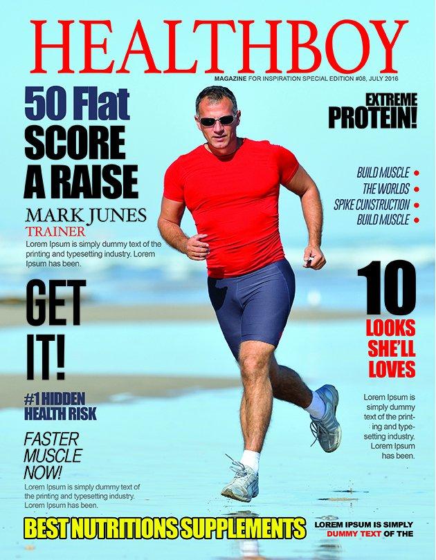 Magazine Cover Template Psd Luxury Health Men Magazine Cover Psd Template – Graphicloads