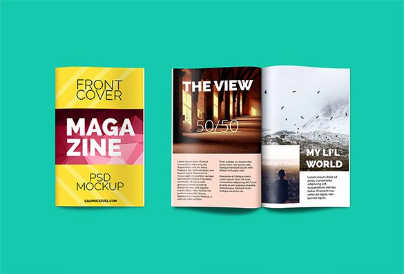 Magazine Cover Template Psd New 36 Magazine Cover Template Free Sample Example format