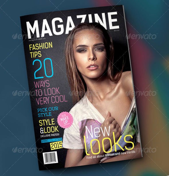 Magazine Cover Template Psd Unique 44 Stunning Magazine Templates for Indesign & Shop
