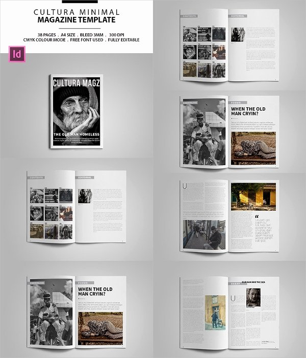 Magazine Layout Template Indesign Beautiful 30 Creative Magazine Print Layout Templates for Free