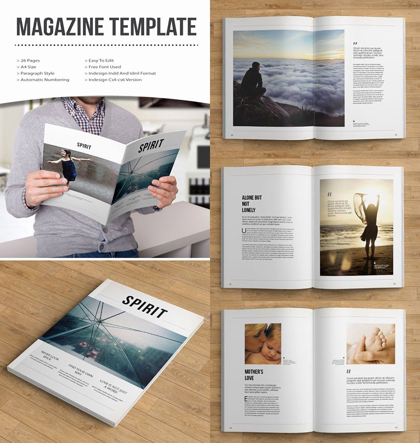 Magazine Layout Template Indesign Elegant 20 Magazine Templates with Creative Print Layout Designs