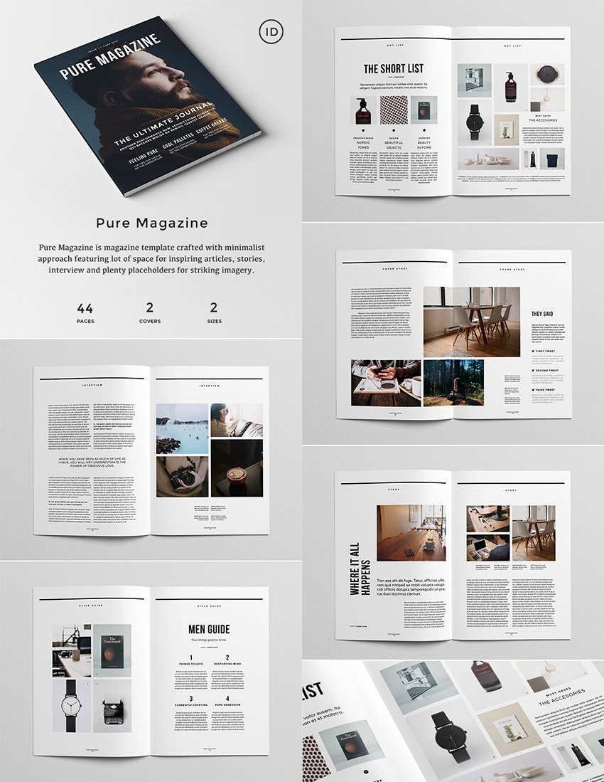 Magazine Layout Template Indesign Fresh 20 Magazine Templates with Creative Print Layout Designs