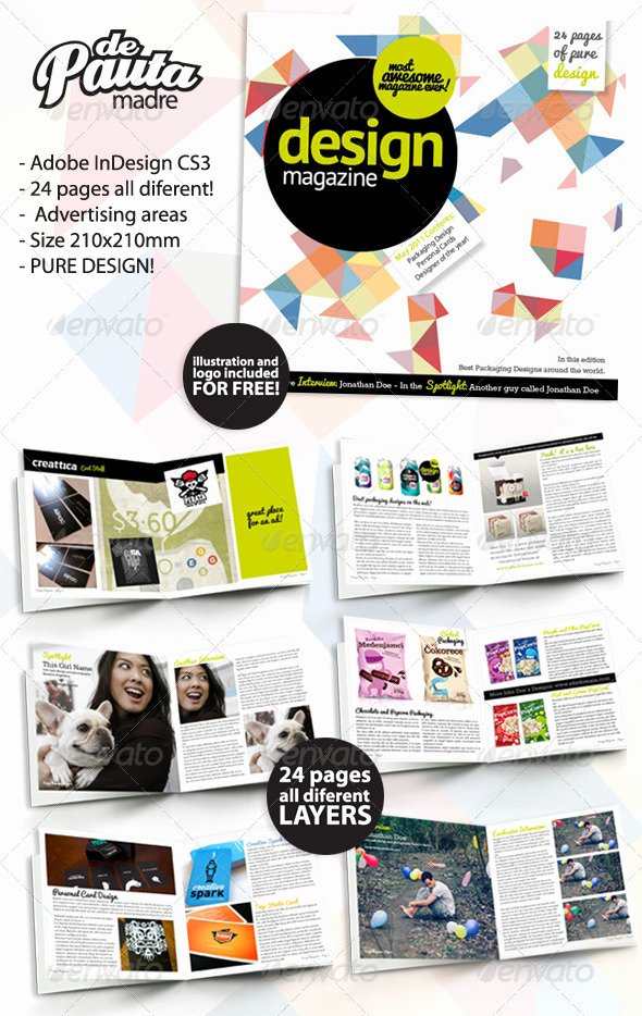 Magazine Layout Template Indesign Fresh Design Magazine Indesign Template by Depautamadre