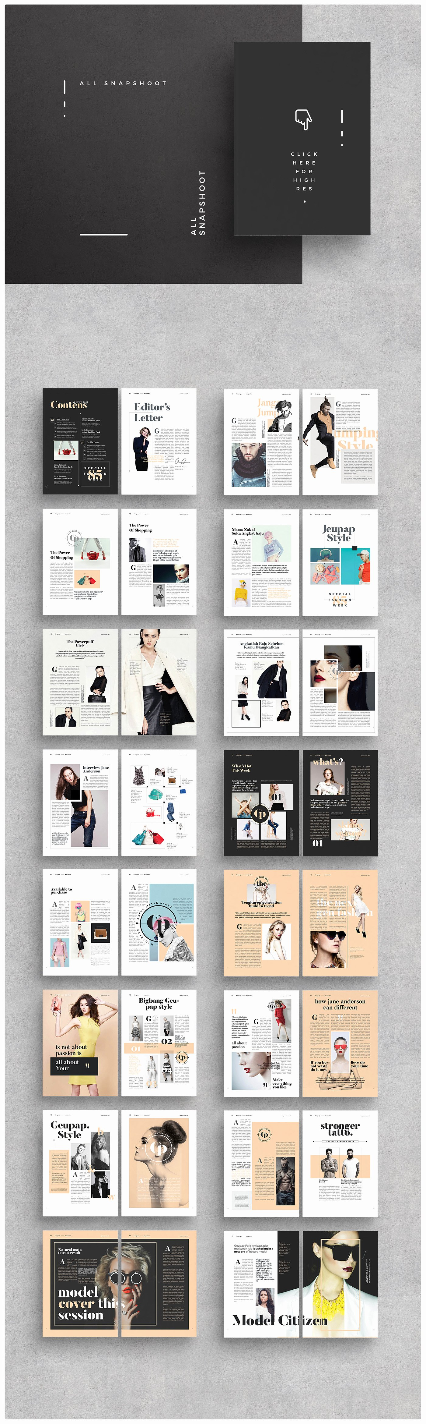 Magazine Layout Template Indesign Inspirational Magazine Layout On Behance
