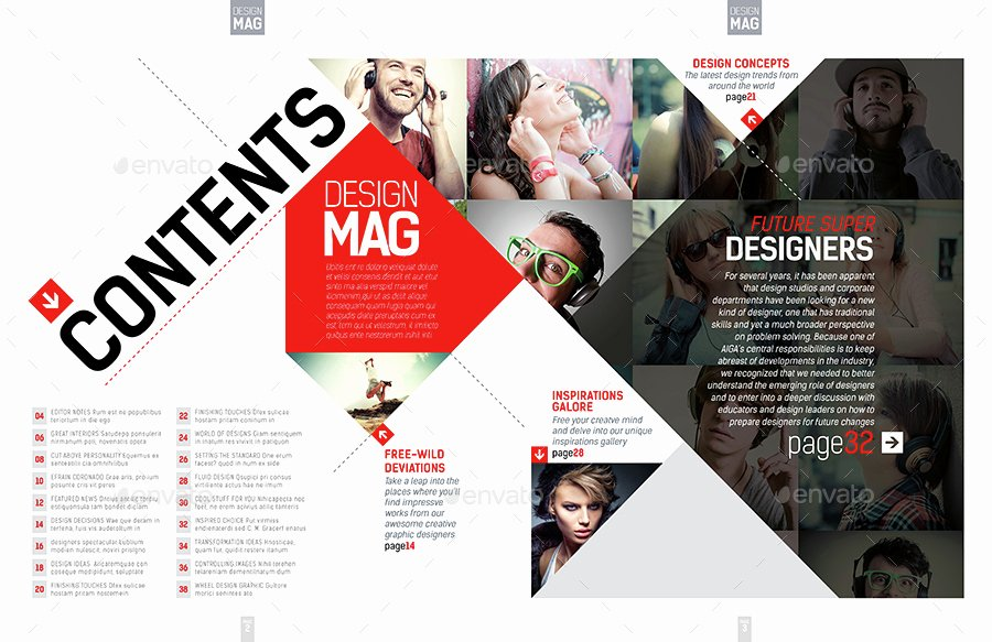 Magazine Layout Template Indesign Inspirational Magazine Template Indesign 40 Page Layout V7 by