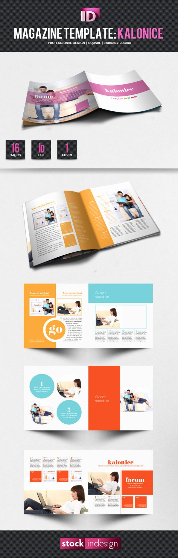 Magazine Layout Template Indesign Inspirational Stockindesign Magazine Template Kalonice Stockindesign