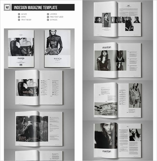 Magazine Layout Template Indesign Luxury 30 Creative Magazine Print Layout Templates for Free