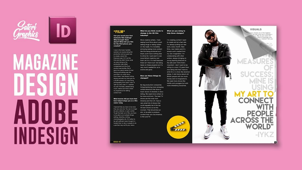Magazine Layout Template Indesign Luxury Magazine Layout In Adobe Indesign Tutorial Photoshop