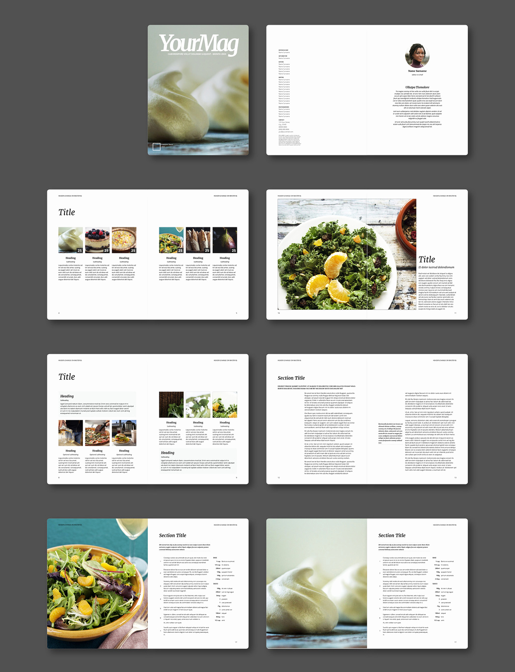 Magazine Layout Template Indesign New Free Indesign Magazine Templates
