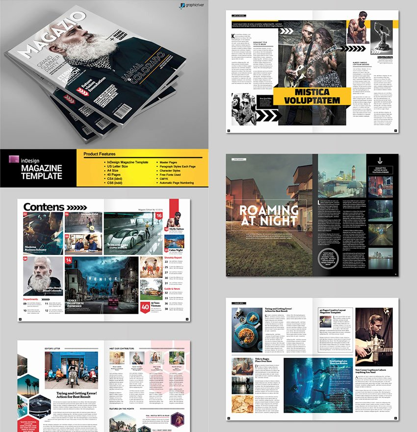 Magazine Layout Template Indesign Unique 20 Magazine Templates with Creative Print Layout Designs