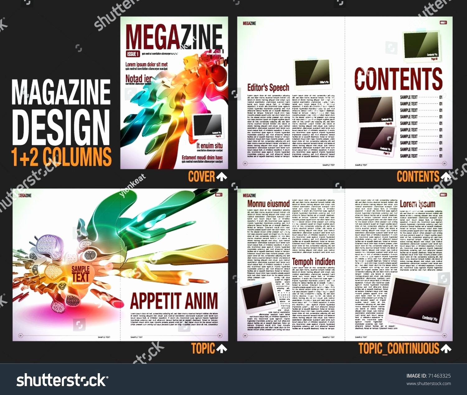 Magazine Layout Template Indesign Unique Magazine Layout Indesign Template
