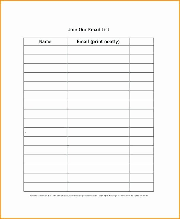 Mailing List Signup Template Elegant Template Sign Up Sheet – Flirty