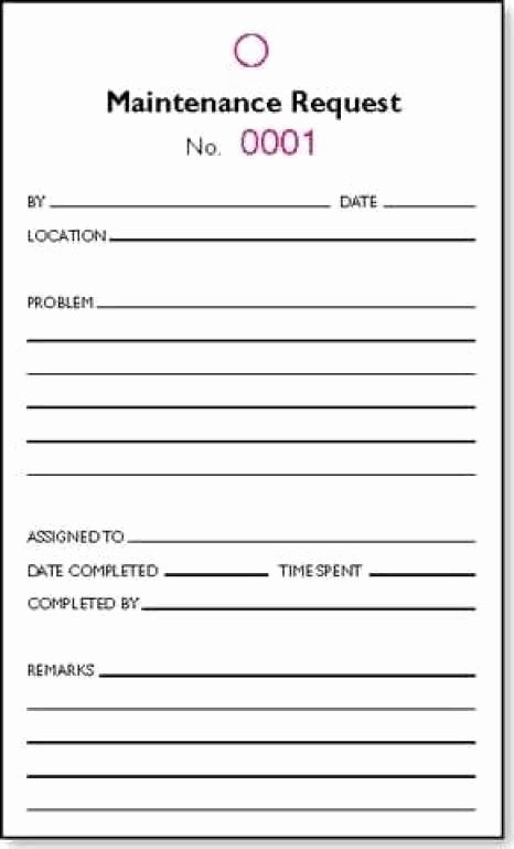 Maintenance Request form Template Best Of 5 Maintenance Request form Templates formats Examples