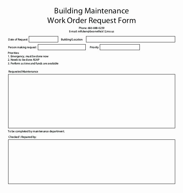 Maintenance Request form Template Lovely Customer Request form Template – Flybymedia
