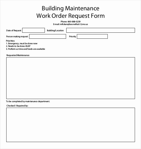 Maintenance Work order Template Excel Awesome 26 Work order Templates Numbers Pages