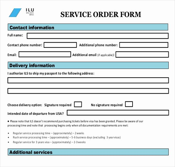 Maintenance Work order Template Excel Beautiful Sample Service order Template 19 Free Word Excel Pdf