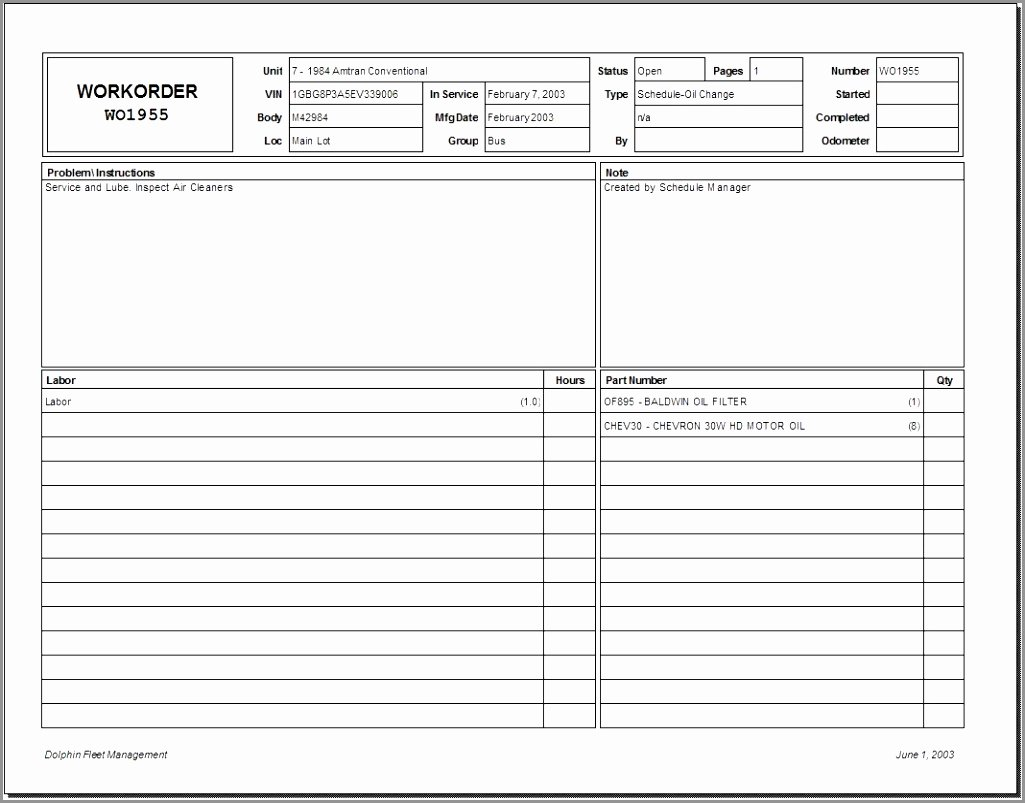 Maintenance Work order Template Excel Elegant 7 Maintenance Work order Template Free