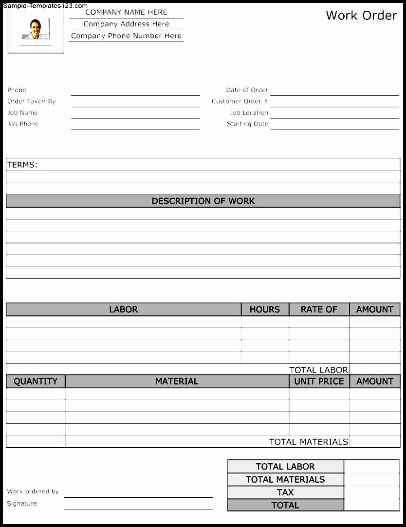Maintenance Work order Template Excel Inspirational Maintenance Repair Job Card Template Microsoft Excel