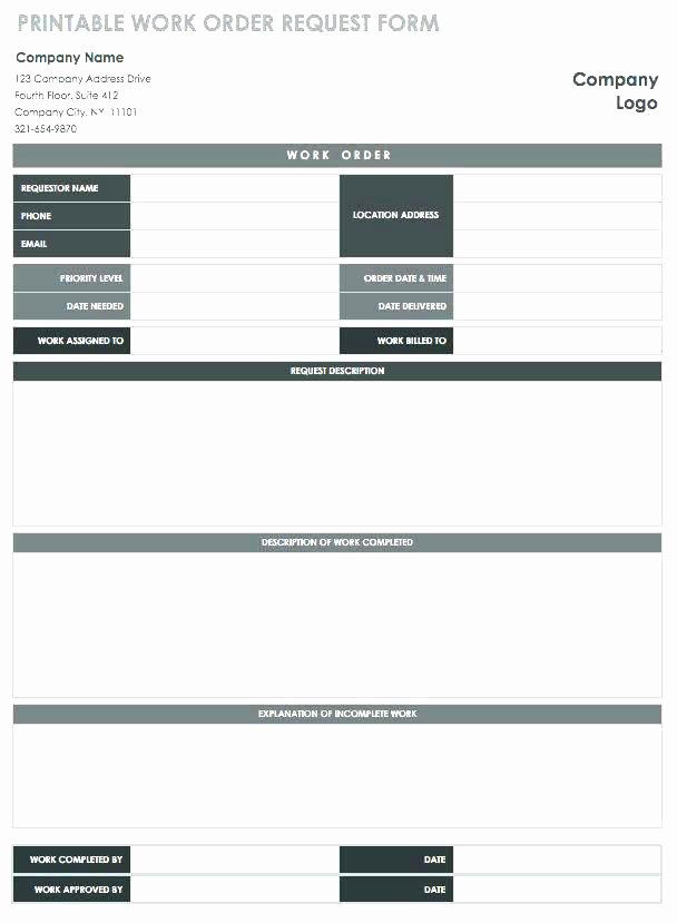 Maintenance Work order Template Excel Lovely Maintenance Request form Template Excel – Clntfrd