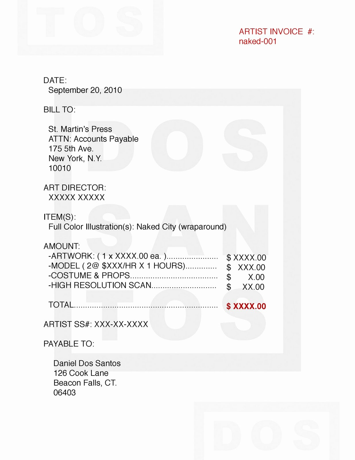 Makeup Artist Invoice Template Awesome Freelance Invoice Artist Invoice Samples Spreadsheet