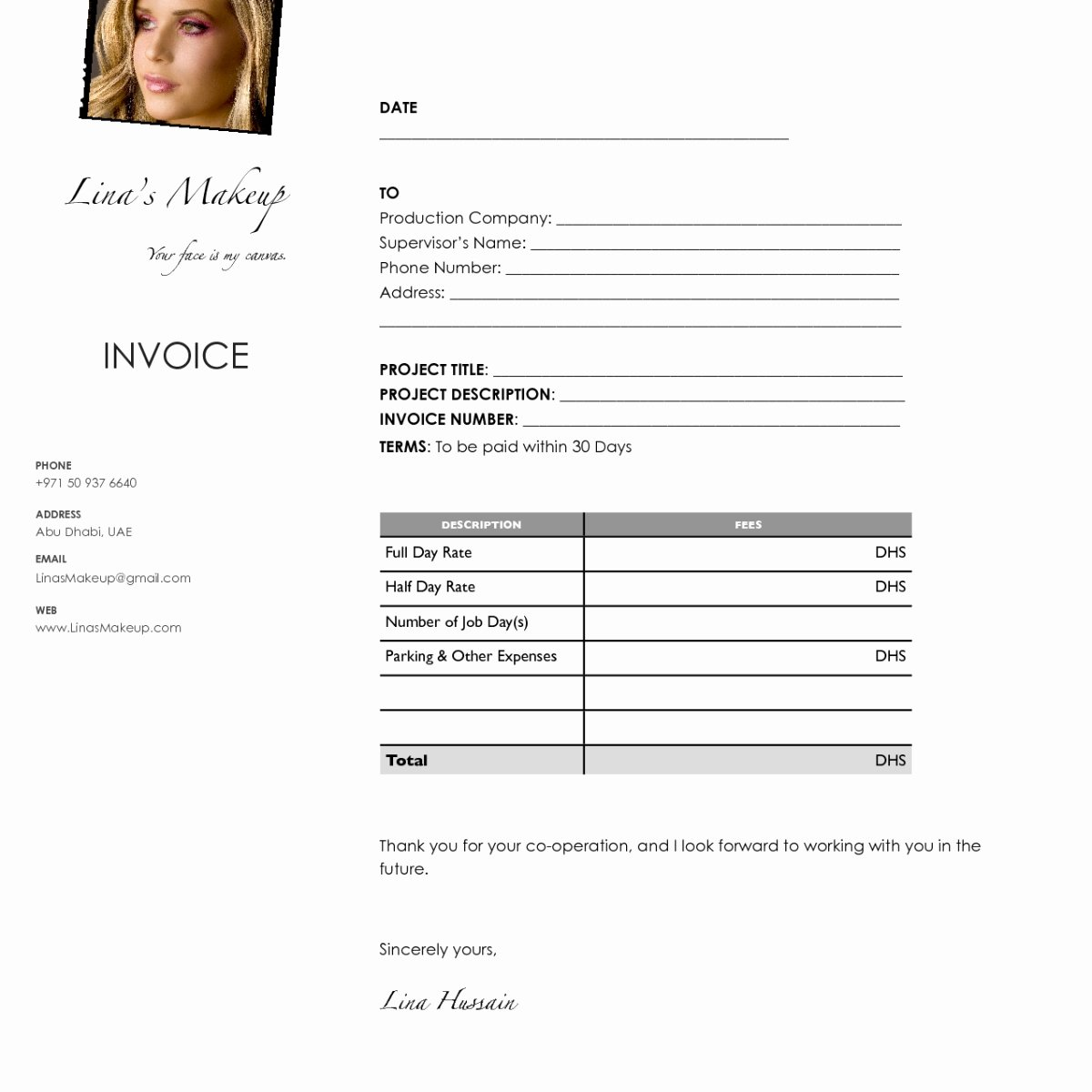 Makeup Artist Invoice Template Best Of Makeup Artist Invoice Template Uk Free Invoice Template