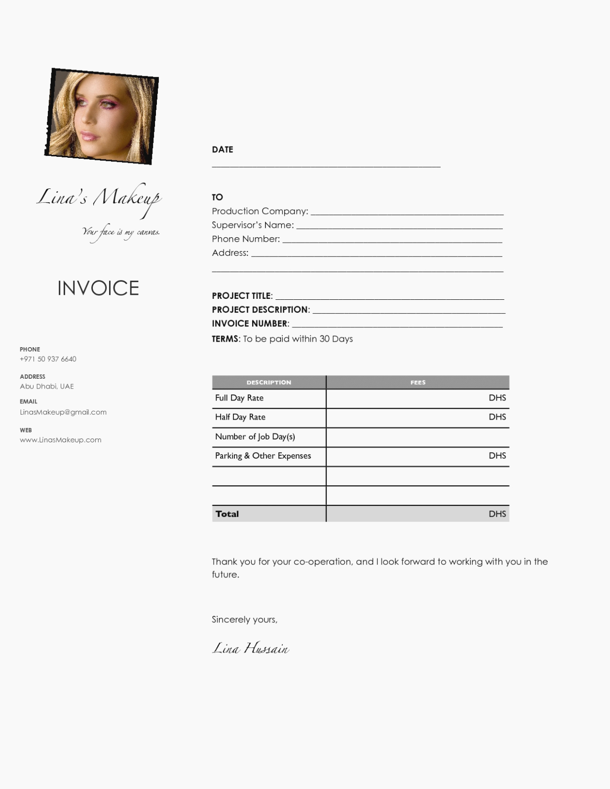Makeup Artist Invoice Template Luxury Five Moments to Remember