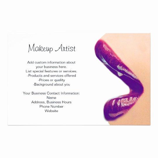 Makeup Artist Invoice Template Unique Makeup Artist Flyer