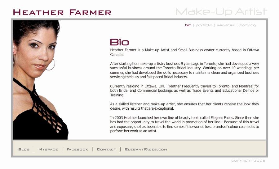 Makeup Artist Website Template Awesome 22 Makeup Artist Biography Examples Expert Webtrucks Fo