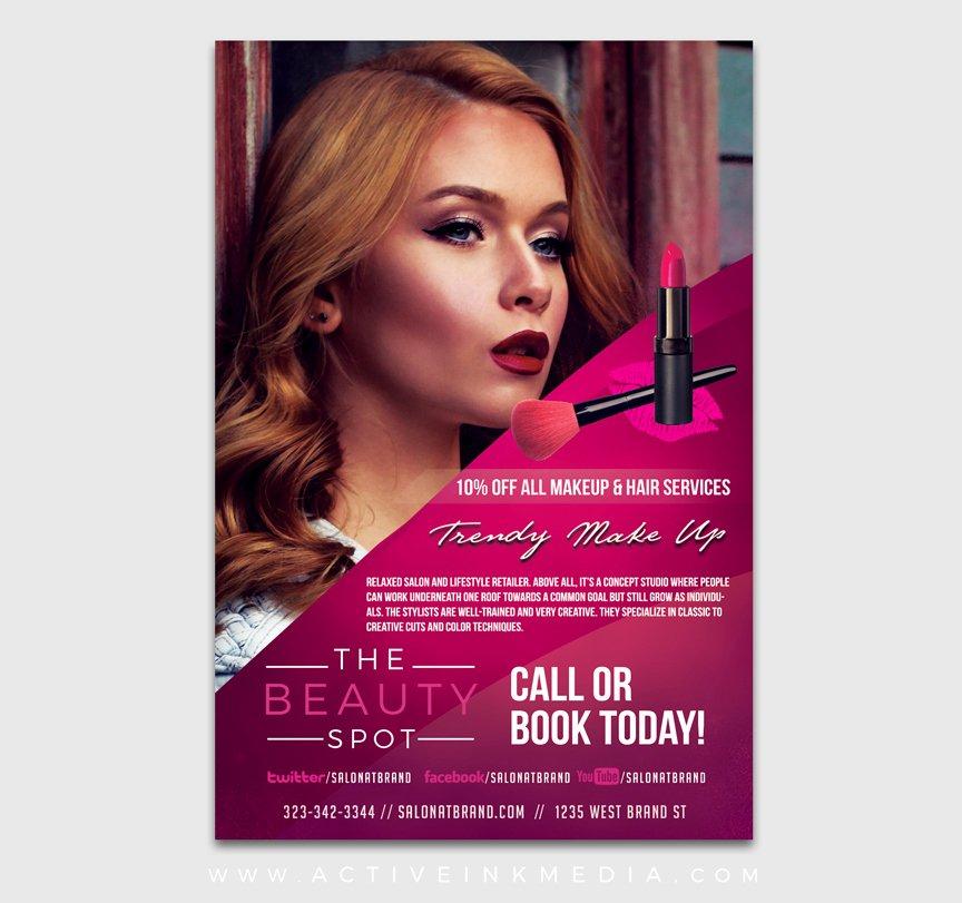 Makeup Artist Website Template Beautiful Make Up Artist Flyer Template