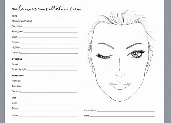 Makeup Artist Website Template Beautiful Makeup Consultation form Makeover form Makeup Artist
