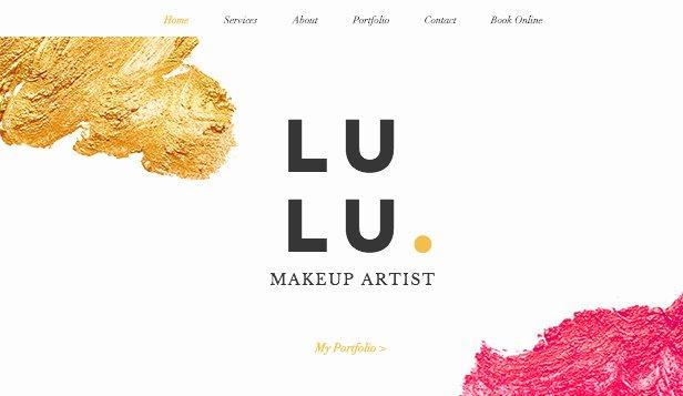 Makeup Artist Website Template Beautiful Professional Makeup Wix Template