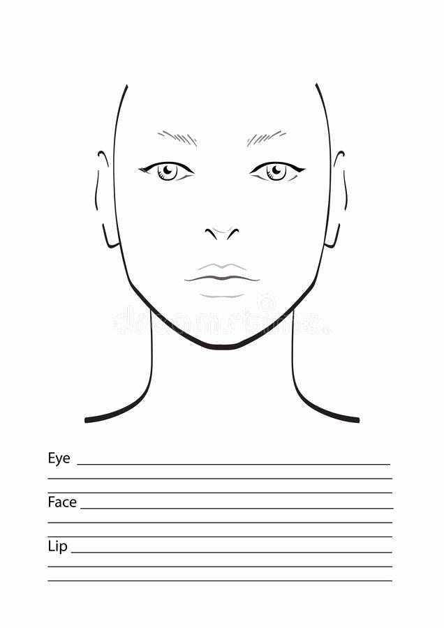 Makeup Artist Website Template Best Of Face Chart Makeup Artist Blank Stock Illustration