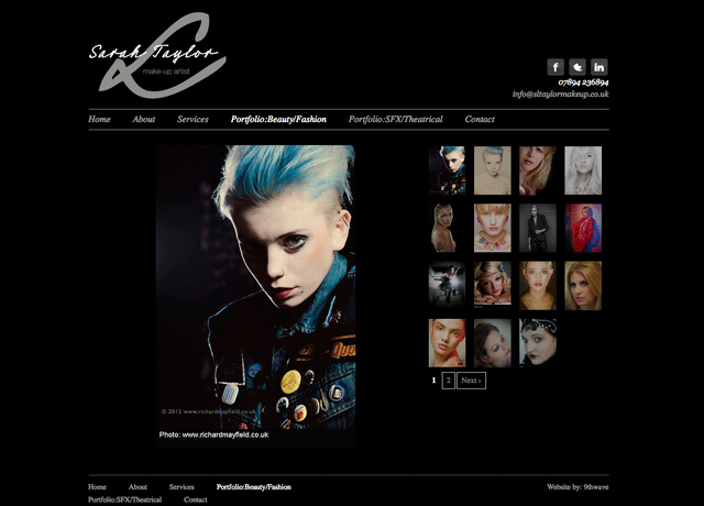 Makeup Artist Website Template Best Of New Logo Design and Web Design for Sarah Taylor 9thwave