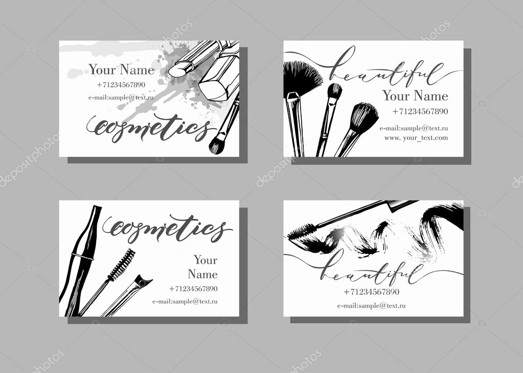 Makeup Artist Website Template Elegant Makeup Artist Business Cards — Stock Vector © Galina72