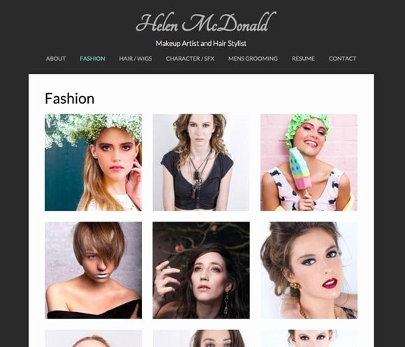 Makeup Artist Website Template Elegant Website Templates