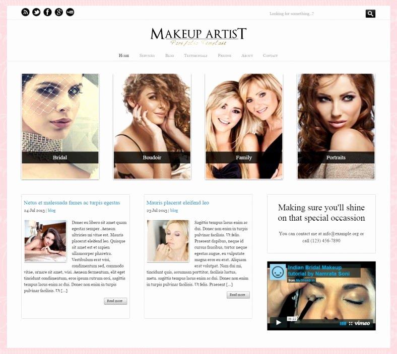 Makeup Artist Website Template Inspirational 15 Make Up Artists Wordpress themes & Templates