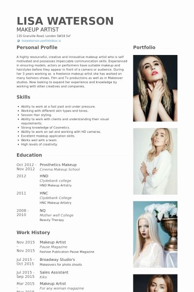 Makeup Artist Website Template Inspirational Best 25 Fashion Resume Ideas On Pinterest